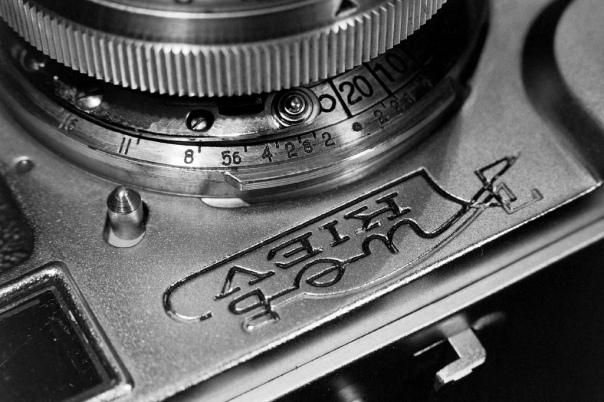 Kiev 4a, Detail, ebenfalls mit Agfa APX 100 aufgenommen.